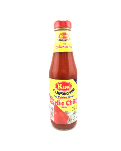 KING Garlic Chilli Sauce - New Label Glass Bottle (320g x 24 bottles)